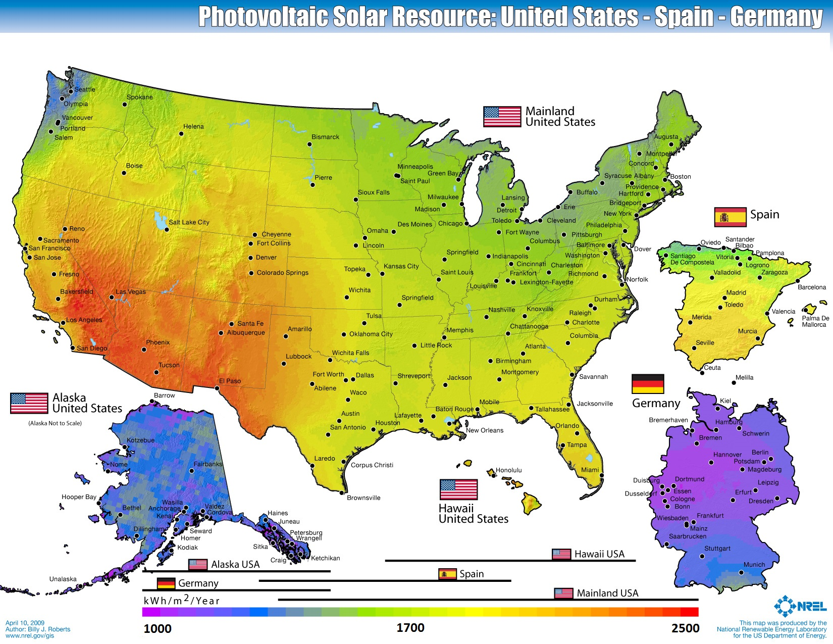Solar energy solar technology and its use worldwide course map of solar resource potential gumiabroncs Image collections