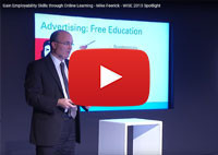 Gain Employability Skills through Online Learning - Mike Feerick - WISE 2013 Spotlight